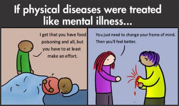 If physical diseases were treated like mental illness...
